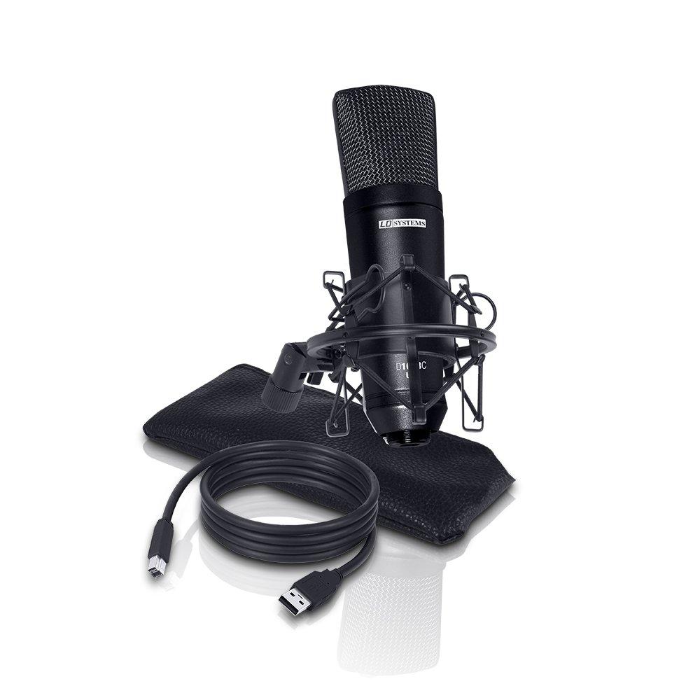 LD SYSTEMS D1013CUSB - Micrófono de cinta (condensador, conector USB)