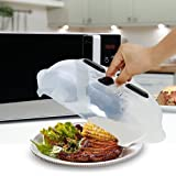 Hover Cover Magnetic Microwave Splatter - Guard Lid People Using This Product Forget Microwave Cleaning With Steam Vent New Food Cover Anti-Bacterial Fireproof Dishwasher BPA Free 11.5 inch Karra Home