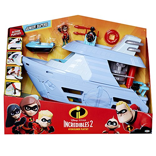 The Incredibles 2 Hydroliner (Ship) Action Playset comes with Elastigirl Junior Super Figure