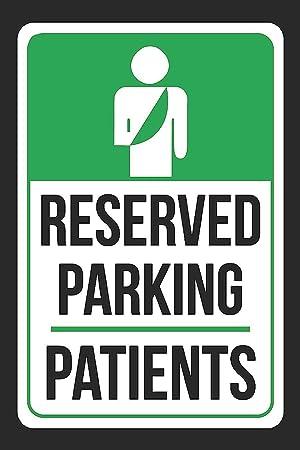 amazon home decor signs パーキング患者用プリント 緑と白と黒 注目 駐