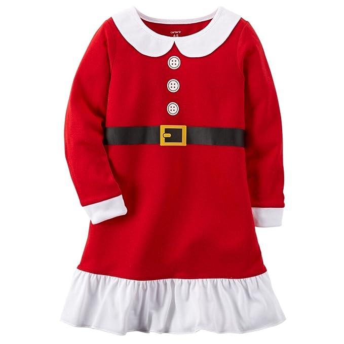 Amazon.com  Carters Big Girls  Santa Holiday Gown (4 5)  Clothing 39cbc72e7