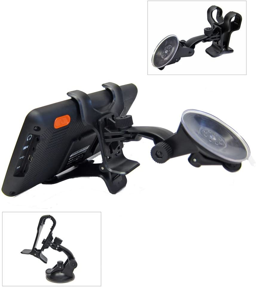 Ramtech Universal 360/° Rotating Car Windshield Suction Mount Dual Clip Holder Bracket Stand For Magellan RoadMate 9600-LM 9612T-LM 9616T-LM GPS WMDC