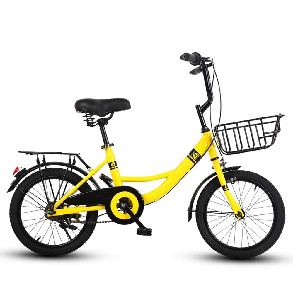 HAIZHEN マウンテンバイク キッズバイク、自転車、トレーニングホイール付き、ボーイズ&ガールズアジャスタブルシート/ハンドルバー16インチ、20インチ 新生児 20 inch イエロー いえろ゜ B07MP8NV7V