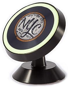 Tinmun Magnetic Phone Car Mount, New York City Vintage Stamp Universal Car Phone Holder for Dashboard