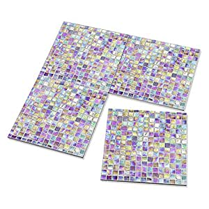 4x Seashell Mosaic Pearl Tiles Pattern Print Kitchen, Dining & Bar Drink Ceramic Coasters - Set of 4