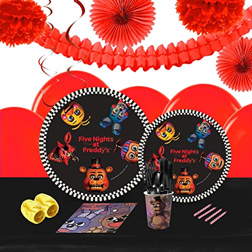 Five Nights At Freddy's 2 Costume Night (Five Nights at Freddys Party Supplies Tableware Decoration Kit (16))