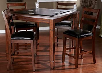 AHB Rosa Dining/Game Table With Flip Top   Mocha