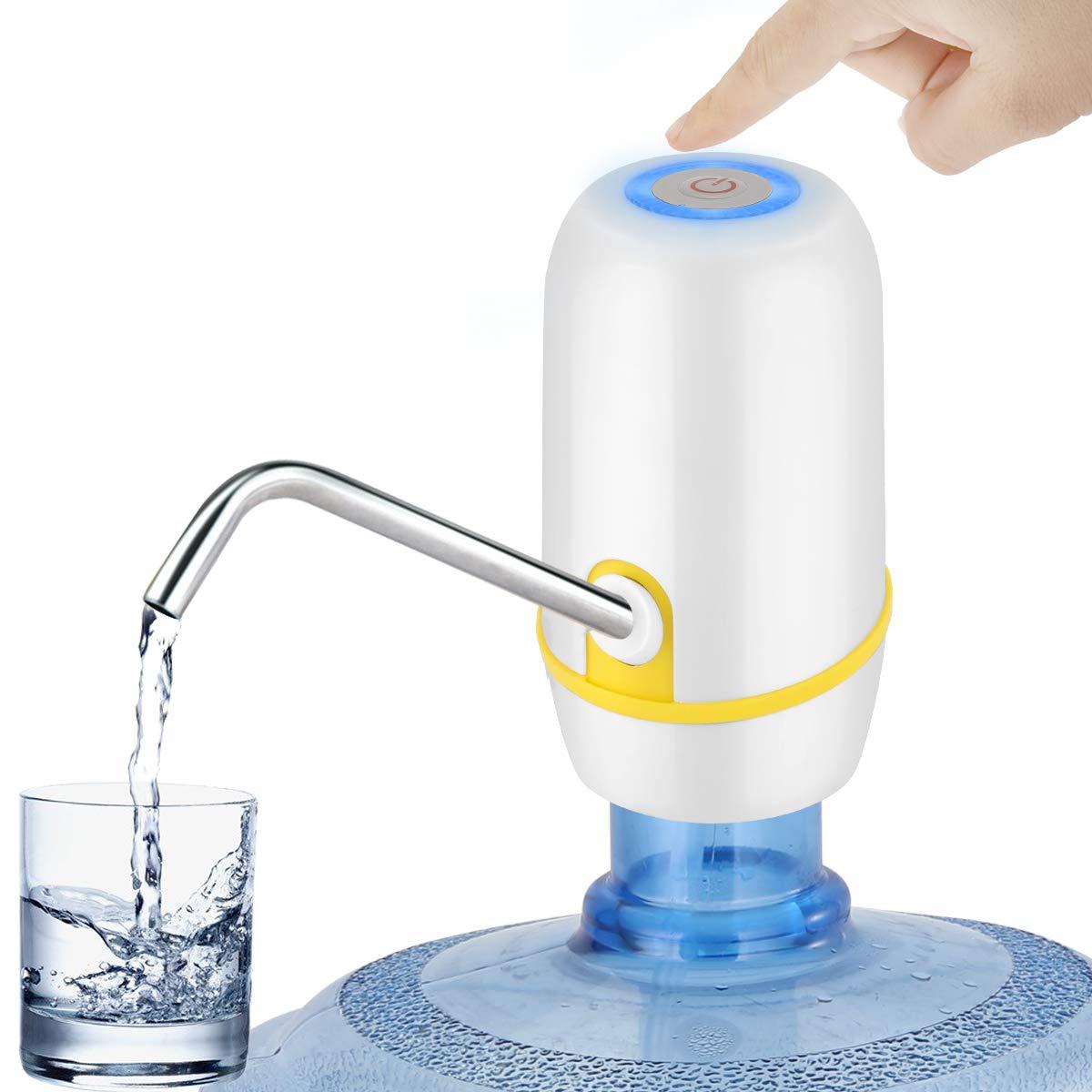 Tianhaik Automatic Electric Water Pump Dispenser, Electric Portable Water Dispenser for Universal 5 Gallon Bottle Office