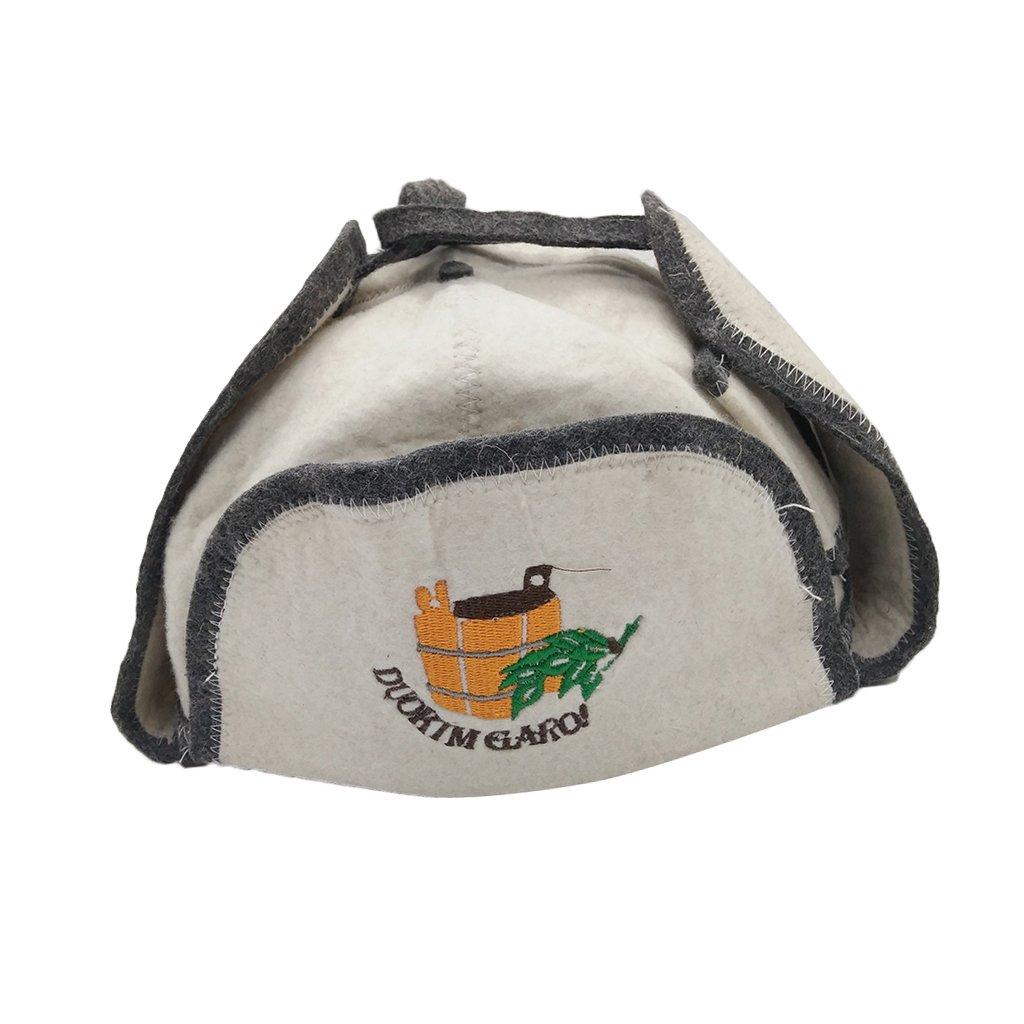 Sharplace Sauna Hat, Russian Banya, Saunahattu, Saunahut, Bath Wool Felt Bania New #13