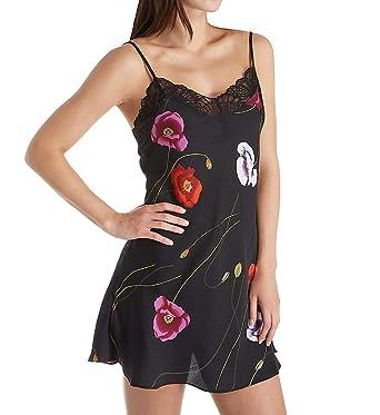 e264110504d03 Josie by Natori Freestyle Satin Bardot Lace Chemise (F98035) S/Black Pearl