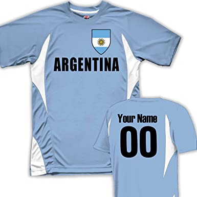 c346e184a70 Image Unavailable. Image not available for. Color  Customized Argentina  Soccer Jersey ...