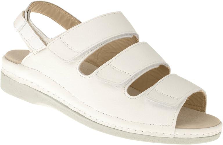 Tessamino Damen Orthopädie Sandalen aus Leder | Weite J