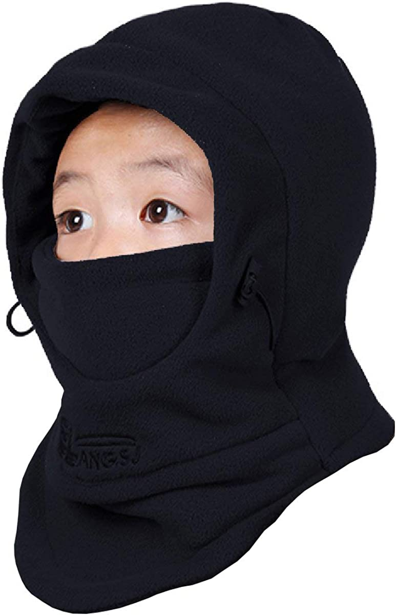 TRIWONDER Kids Fleece Balaclava Hood Ski Mask Cold Weather Face Mask Neck Warmer Winter Nose Warmer for Toddlers Boys Girls