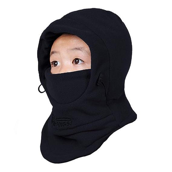 32b80e660 TRIWONDER Kids Balaclava Hood Ski Face Mask Neck Warmer Winter Fleece Hat  for Toddlers Boys Girls