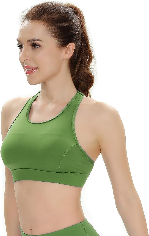 QUEENIEKE Womens Medium Support Back Pocket Energy Sport Bra Cotton Feel 70927