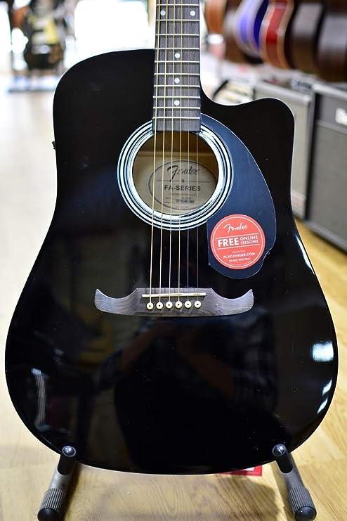 Fender FA-125CE Dreadnought Electro Acoustic Guitar - Black ...