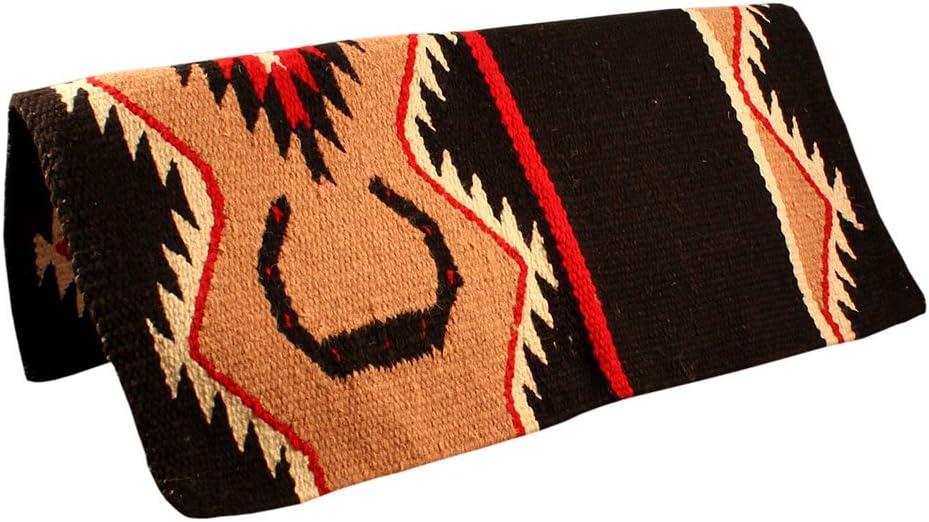 Tahoe Tack Lucky Horseshoe Hand Woven Wool Western Saddle Blankets