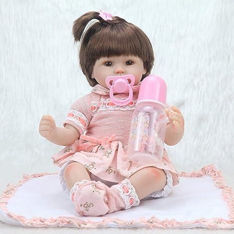 Amazon.es: Sunnyday 40 CM Bebé recién Nacido muñecas Bebe Reborn ...
