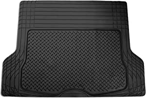 """FH Group F16400BLACK Black All Season Protection Cargo Mat/Trunk Liner (Trimmable) Size 55.5"""" x 42.5"""" Large"""
