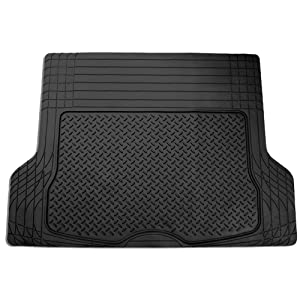 "FH Group F16400BLACK Black All Season Protection Cargo Mat/Trunk Liner (Trimmable) Size 55.5"" x 42.5"" Large"