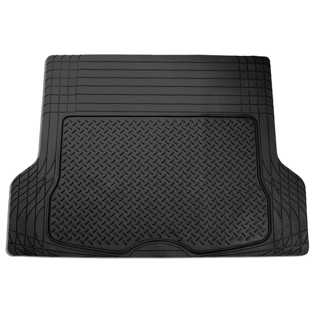 FH Group F16400BLACK Black All Season Protection Cargo Mat/Trunk Liner (Trimmable) Size 55.5'' x 42.5'' Large