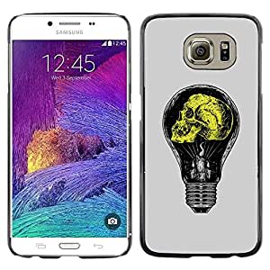 Plastic Shell Protective Case Cover    Samsung Galaxy S6 SM-G920    Grey Yellow Light Bulb Yellow Idea @XPTECH