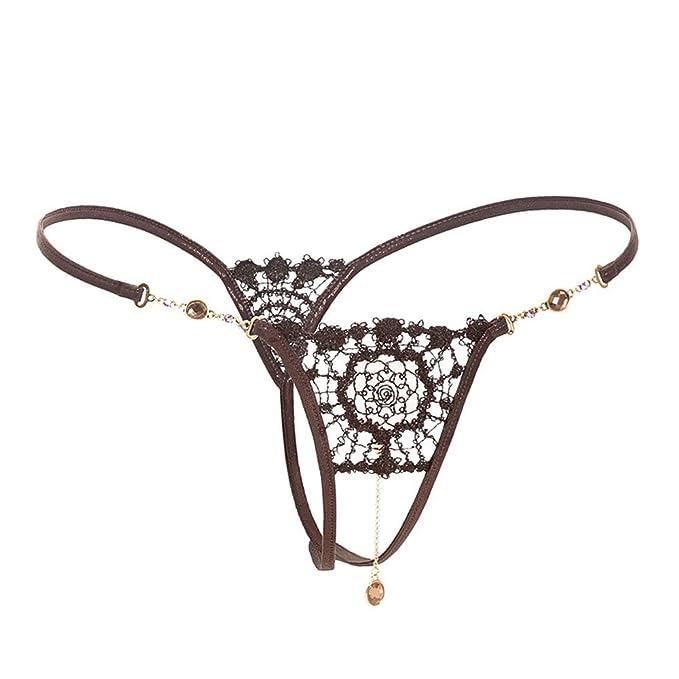 Shirloy Tanga Erótica Sexy Bragas de Encaje Tanga Tentación Perspectiva Ropa Interior Bikini Femenino Tanga: Amazon.es: Ropa y accesorios