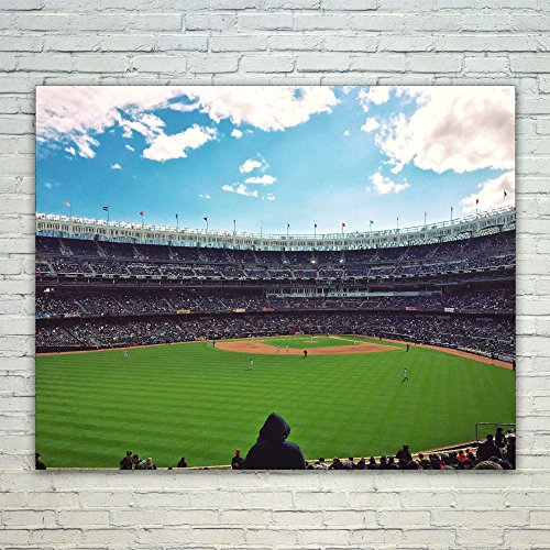 Baseball - 16x20 Poster Print Wall Art - Modern Picture Photography Home Decor Office Birthday Gift - Unframed 16x20 Inch (90B6-2BBAD) ()