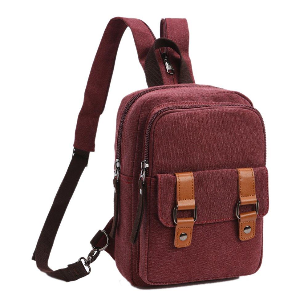 Arbag Small Cute Backpack Vintage Casual Canvas Shoulder Bag Daypack Black 8528bag-Black