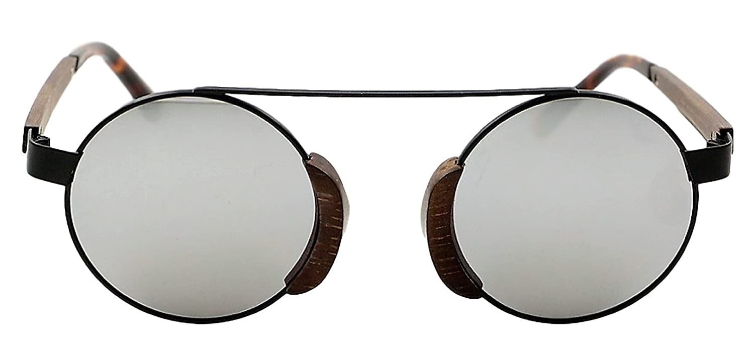 84757ec418 Amazon.com: Swole Panda - Silver Lenses Morpheus Bamboo Sunglasses with  Pouch and Case SP009: Clothing