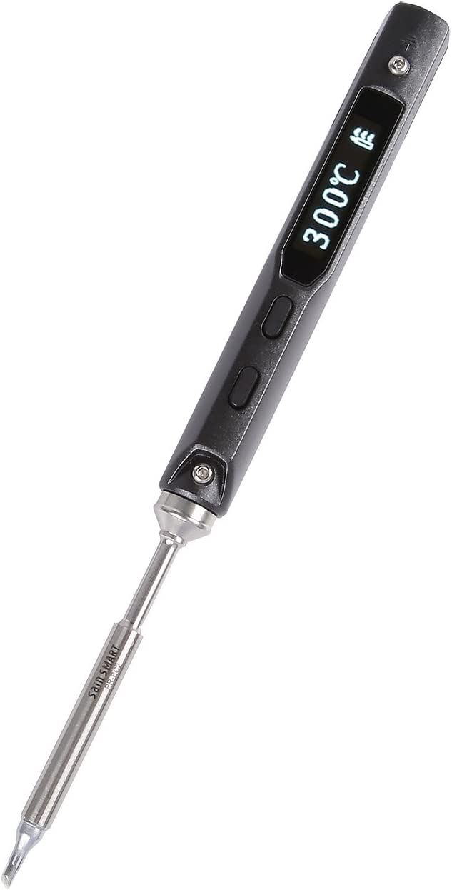SainSmart ToolPAC PRO32 Mini Smart Soldering Iron Tool Set Auto Sleep Mode and Fast Heating Intelligent Welding Tool with STM32 Chip with 2 Solder Tips, with 19V/2.1A Power Supply