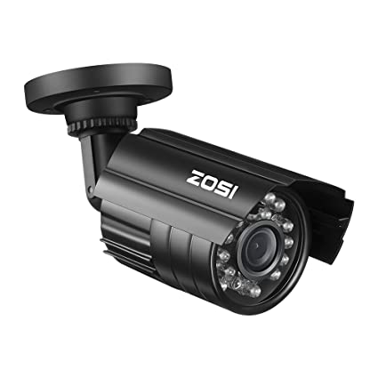 amazon com zosi bullet simulated surveillance cameras with red