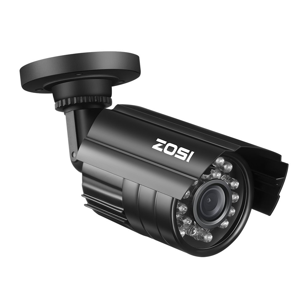 ZOSI Bullet Simulated Surveillance Cameras with Red Light,Dummy Security Camera Outdoor Indoor Use,Wireless Fake Cameras…