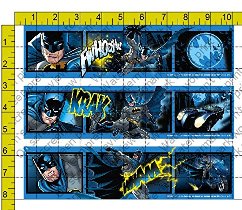 Batman Edible Icing Image Cake Border Strips by Whimsical (Batman Border)
