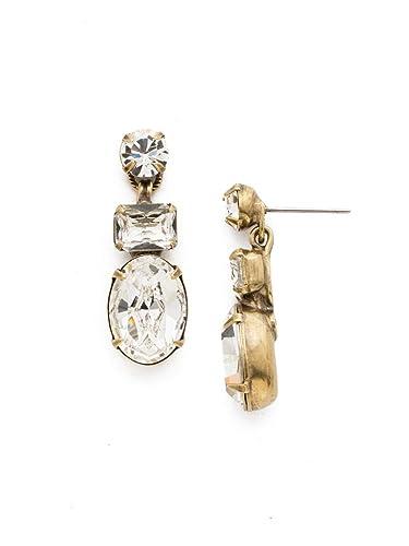 3da0999eef8 Sorrelli Crystal Women's Forget-Me-Not Drop Earrings, Clear, 1