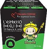 Italian Coffee - 100% Organic - Nespresso compatible capsules (Demeter, 120 capsules)