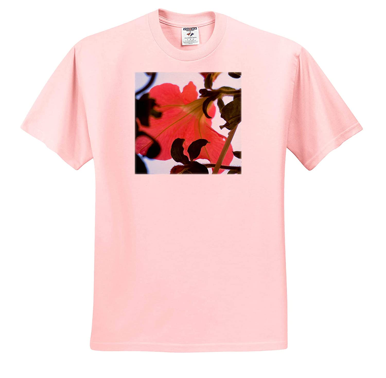 A Close up of a Hanging Plant with Green Leaves and a Peach Flower Floral Peach T-Shirts 3dRose Jos Fauxtographee
