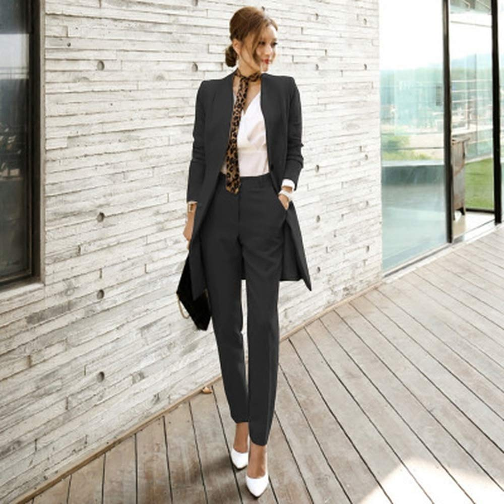 Sevem-D 2019 Pant Suits Women Office Business Suits Formal Work Wear Sets Uniform Styles Pant Suits
