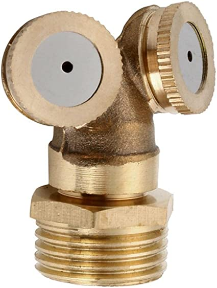 2//3//4 Holes Brass Spray Head Mist Nozzle Sprinkler Garden Watering Irrigation