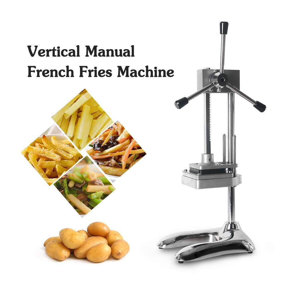 pommes de terre en verticale Lames en acier inoxydable 8/mm ITOPKITCHEN Coupe-l/égumes manuel pour pommes frites 12/mm concombre et bien plus encore 10/mm corps en aluminium carottes