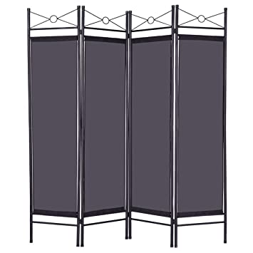 Amazoncom Moon Daughter Black Panel Bathroom Room Divider - Bathroom room divider