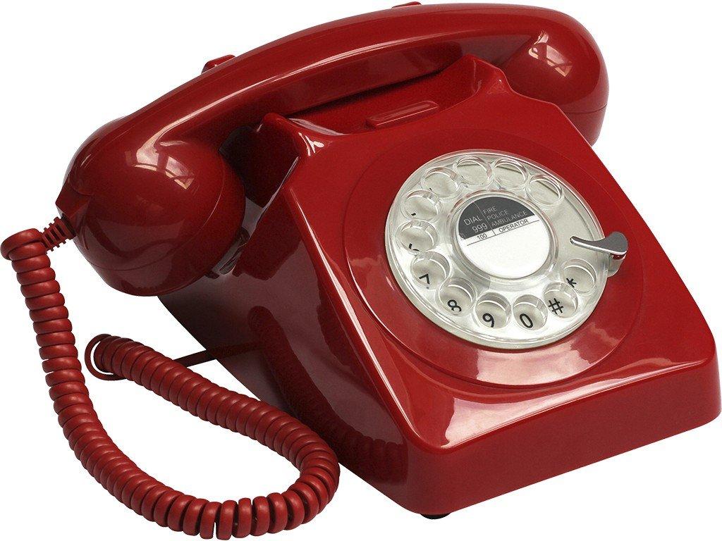 Telefon Retro VINTAGE 70er JAHRE rot