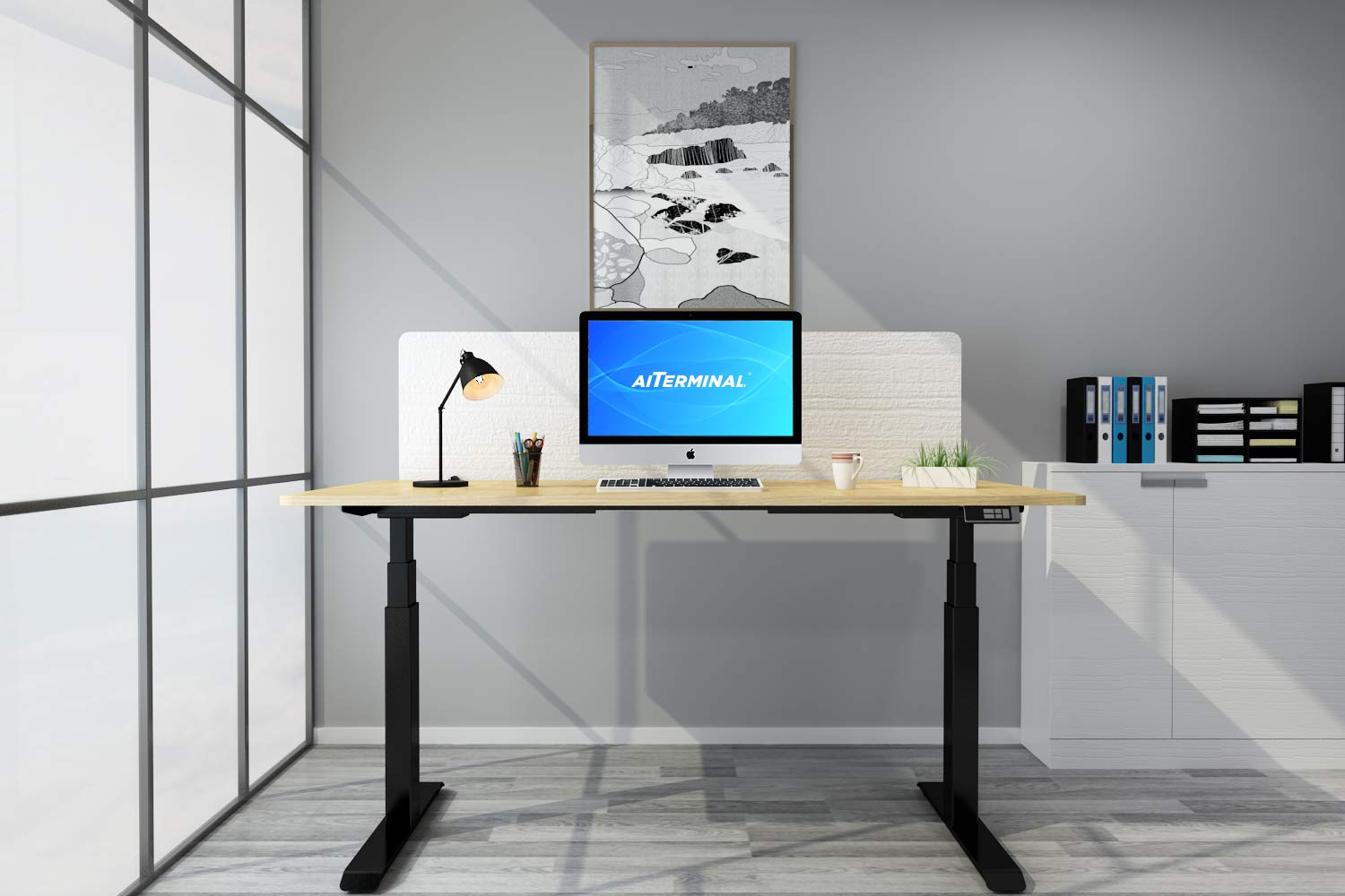 amazon com aiterminal electric standing desk frame dual motor rh amazon com motorized standing desk base motorized standing desk ikea
