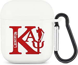 Portable Kappa Alpha Psi AirPods Case Cover Silicone Protective Convenient Funny Earphone case for AirPods 1&2 for Girls Women Men