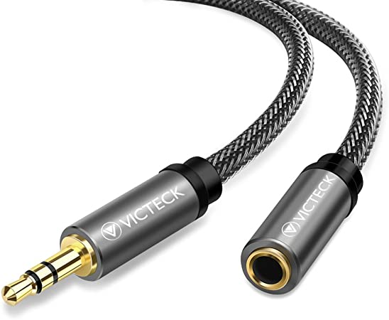 Klinke Verlängerung 1m Victeck Nylon 3 5mm Stereo Elektronik