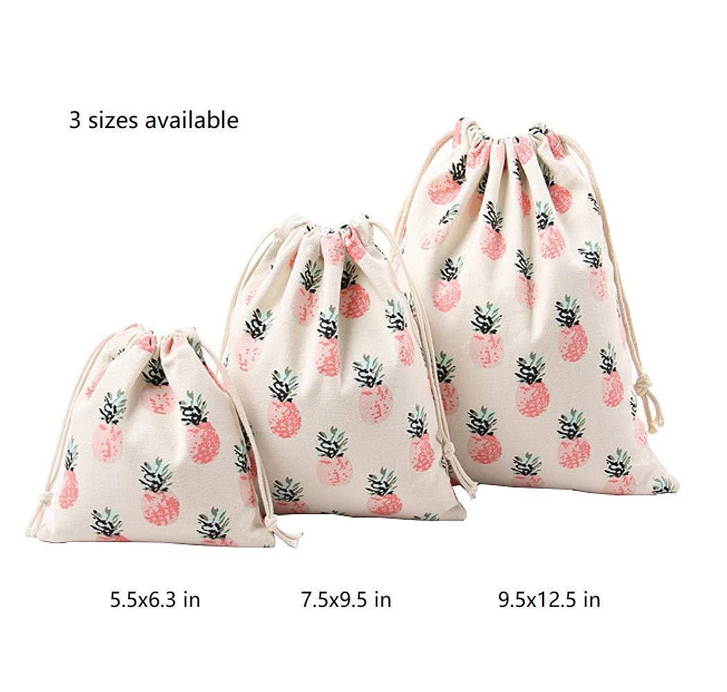 Amazon.com: Bolsas de muselina de lona gruesa con patrón de ...
