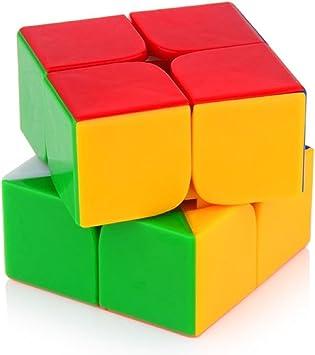 MayatraS 2X2 High Speed Stickerless Speedy Rubik Magic Puzzle Cube - Multi Color