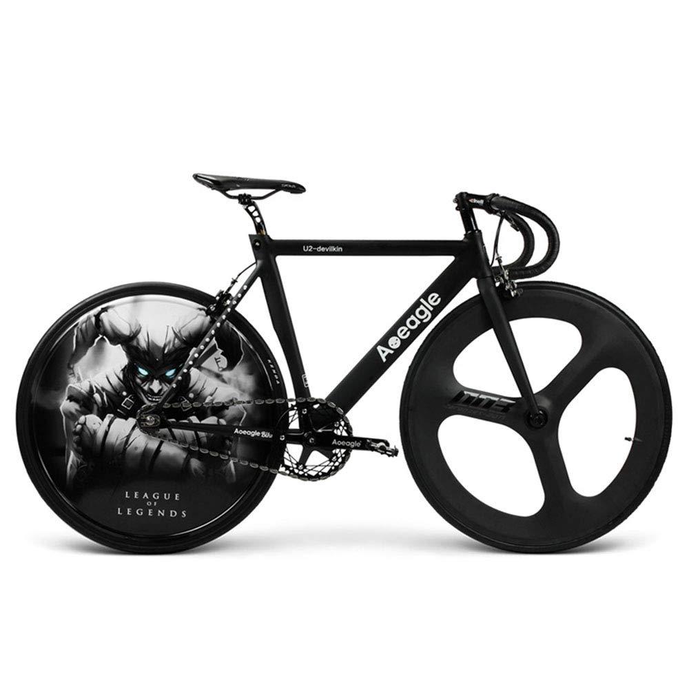 自転車、ロードバイク、Ledライトhyunクールリアホイール、内蔵充電式リチウムバッテリー、アルミ合金フレーム、フロントホイールカーボンファイバー、車重さ9.9Kg、車長160cm高80cm B07JDKM732