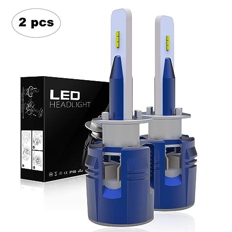 AAIWA Bombilla H1 LED Coche y Moto, Luces Faros Delanteros,Kit de Conversión de