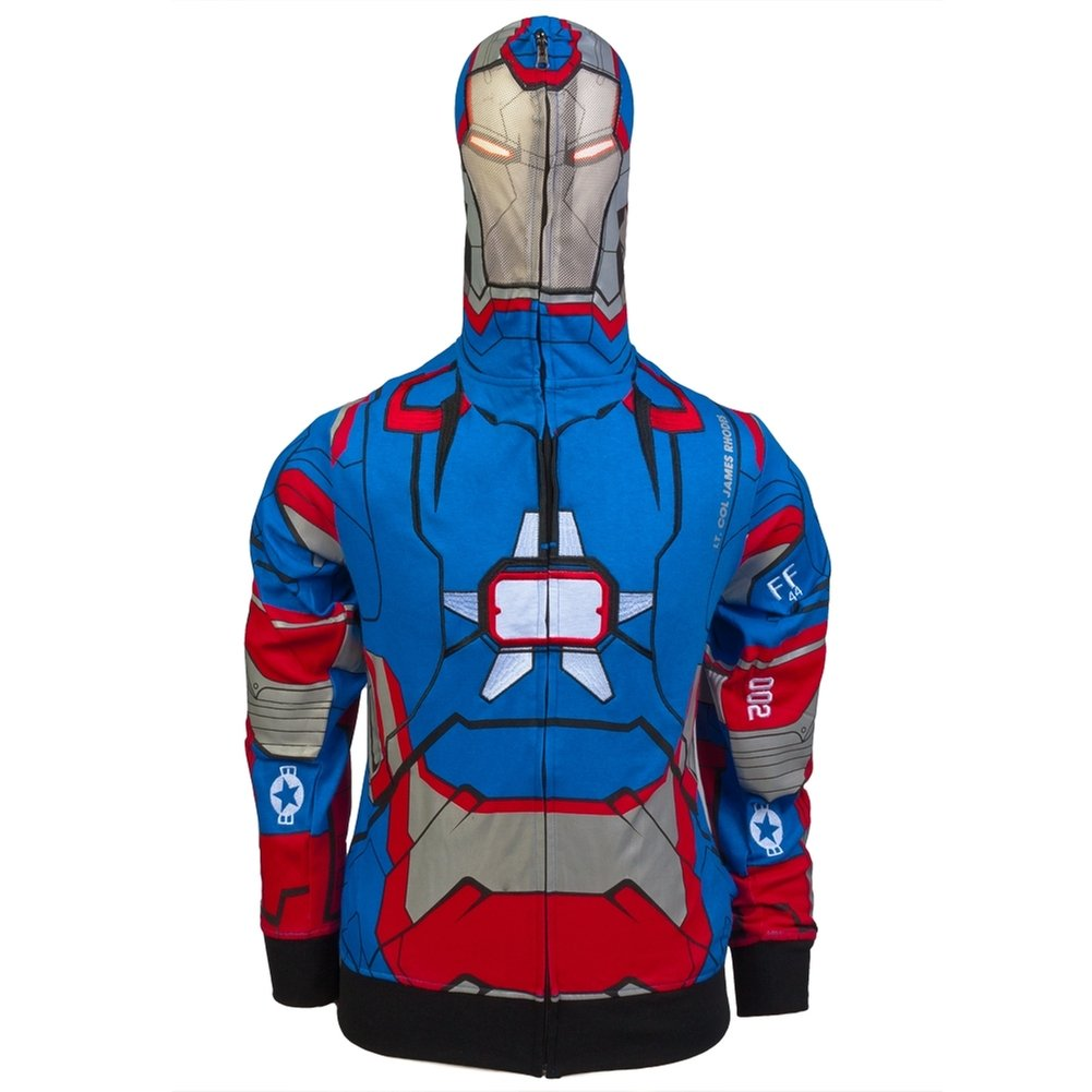Marvel Iron Man 3 Iron Patriot Full Zip Hoodie Size : Medium